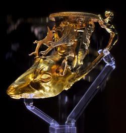 Панагюрско златно съкровище - ритон с глава на елен
