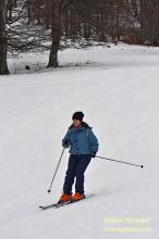по ски пистата
