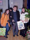с колегите - фотографи от Панагюрище - Нина Дееничина и Костадин Костадинов